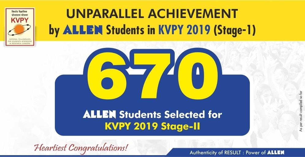kvpy 2019 result allen