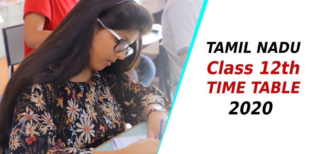 TN Class 12th Time Table