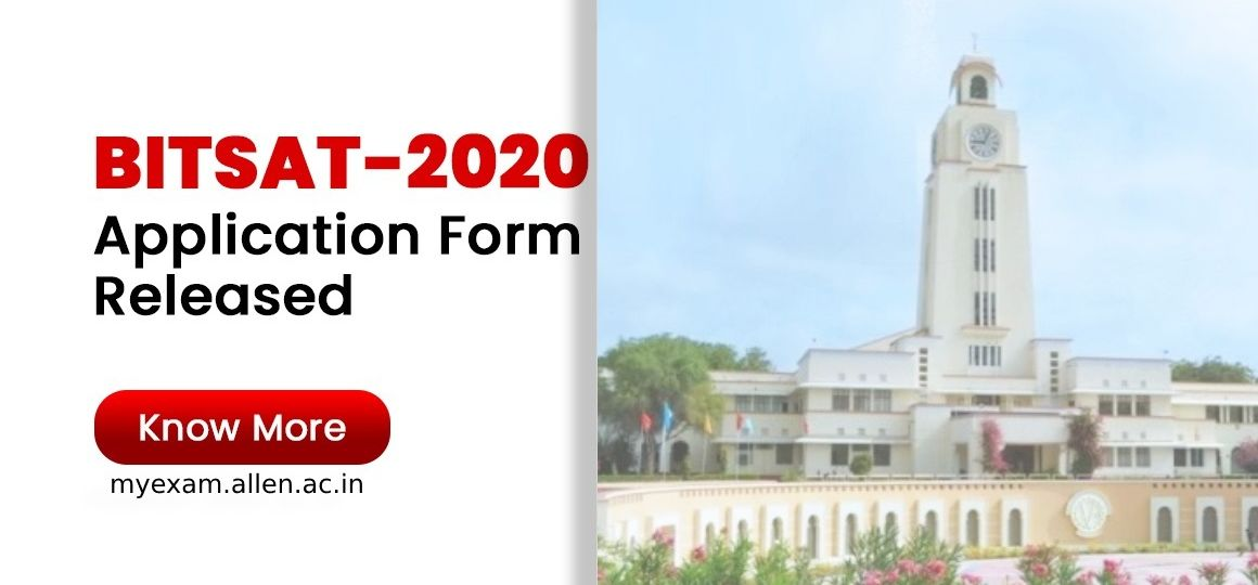 bitsat 2020 application form
