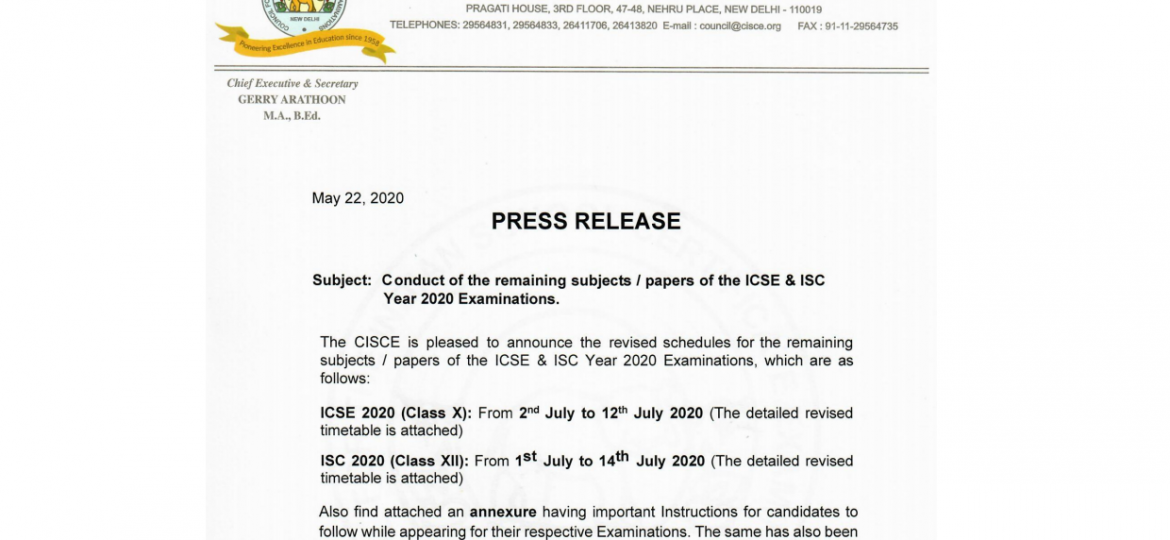 icse isc exam new dates
