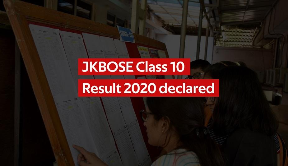 JKBOSE Class 10 Result 2020 declared