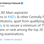 admission in nits