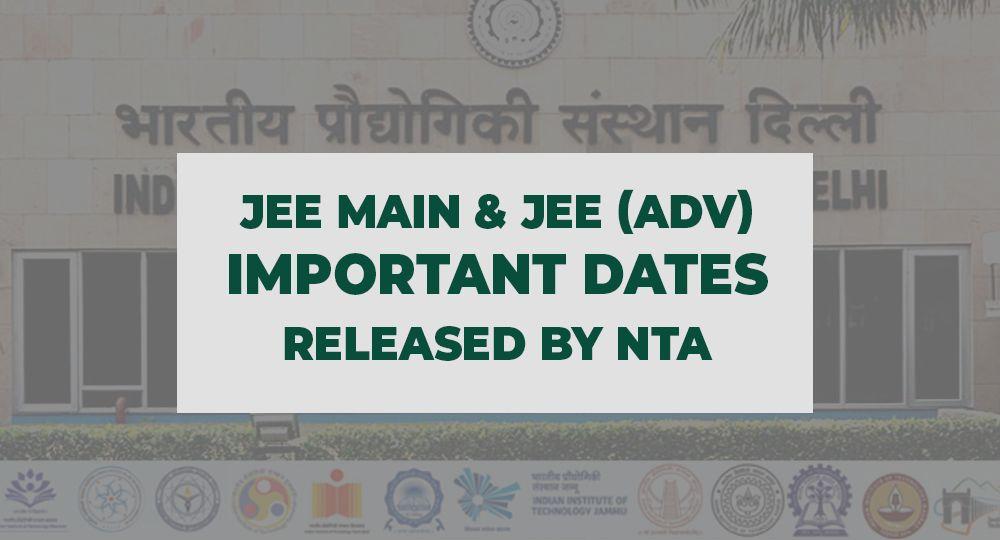 JEE Important dates 2020