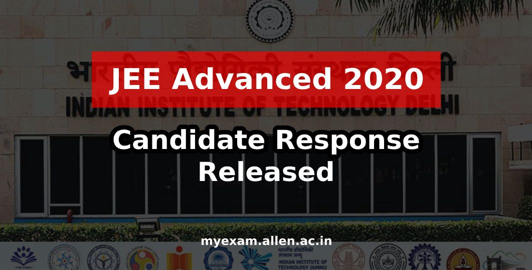 jee adv 2020 candidate response