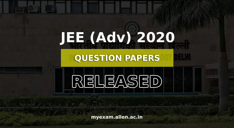 jee adv 2020 question paper