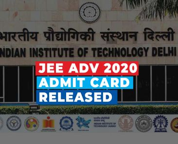 jee adv admit card released