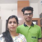 Anubhav with his Mother