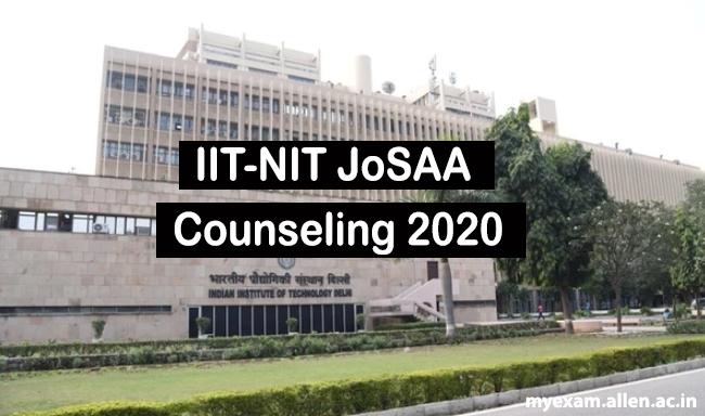 iit nit josaa counseling 2020