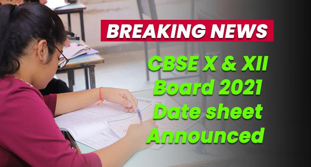 CBSE date sheet