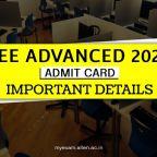 JEE Advanced admit card 2021